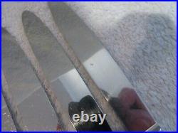 11 couteaux de table metal argente (dinner knives) art deco grand prix