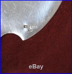12 CUILLERES A GLACE + PELLE DE SERVICE METAL ARGENTE ART DECO Silverplate