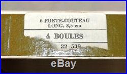 12 Porte Couteaux Boules En Metal Argente Christofle En Boite