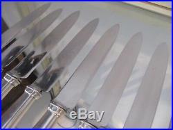 12 couteaux à dessert métal argenté Art deco (dessert knives) Boulenger