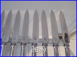 12 couteaux à dessert metal argente art deco Ercuis 18,5cm (dessert knives)