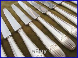 12 couteaux à dessert metal argente art deco SFAM dessert knives
