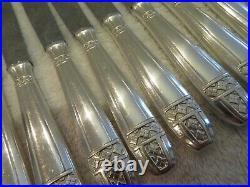 12 couteaux à dessert metal argente (dessert knives) art deco grand prix ety