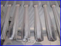 12 couteaux de table métal argenté Art deco (dinner knives) Boulenger