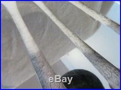 12 couteaux de table metal argente Orbrille art deco (dinner knives) lp13