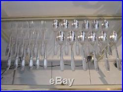 12 couverts à dessert metal argente art deco Ercuis (dessert forks spoons 24p)