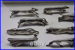 12 porte couteaux Christofle Gallia Sandoz Art Deco en métal argenté