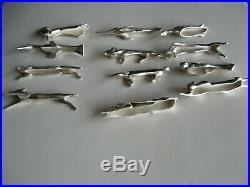 12 porte-couteaux art déco animaux tous différents Gallia Christofle Sandoz