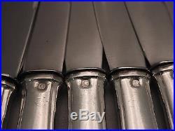 18 Grands Couteaux. Argent Massif. MINERVE 1,6 Kg. Maitre Orfèvre BOULENGER