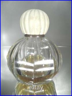 1930 Baccarat Flacon À Parfum En Cristal Et Argent Art Déco