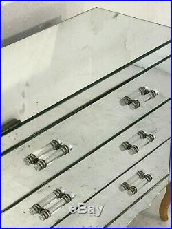 1940 COMMODE MIROIR ART-DECO NEO-CLASSIQUE MODERNISTE SHABBY-CHIC Adnet