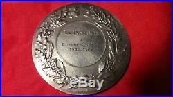 1944 1964 médaille argent art déco 68mm par Turin révolution le parisien Presse