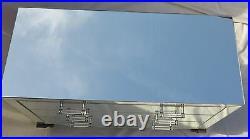 1950' Commode Art Déco Miroir 3 Tiroirs 6 Poignées Verre Bagues Argentées