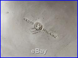 1950 Gio Ponti Krupp Seau A Champagne Art-deco Moderniste Metal Argente