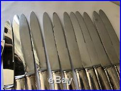24 Couteaux Metal Argente Art Deco Menagere Ancienne Tbe