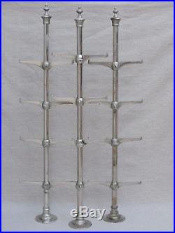 3 Montants étagère présentoir vitrine de Métier Bistro Boutique ART-DÉCO Siegel