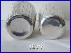 3 Timbales Art Déco Argent massif Poinçon Minerve Poids 247 grammes