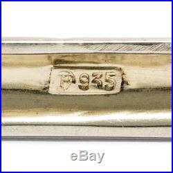 À 1930 THEODOR FAHRNER BROCHE en argent / Mattemail Art Déco, Courriel Braendle