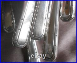 ALFENIDE (production Christofle) 12 Couteaux de table métal argenté art déco