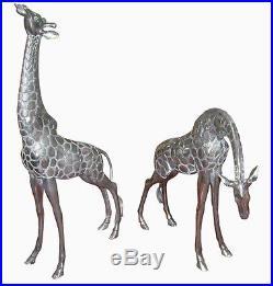 ALUMINIUM Sculpture couple de girafes (0068)