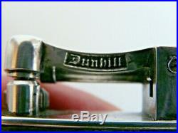ANCIEN GRAND BRIQUET ART DECO DUNHILL METAL ARGENTE GAINE CUIR REG. No. 737418