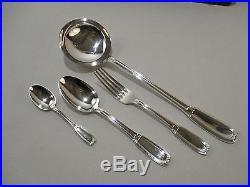 Ancienne Menagere Boulenger Art Deco 37 Pces Metal Argente Silver Silber Metal
