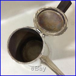 ANCIENNE grande CHOCOLATIÈRE en métal argenté verseuse