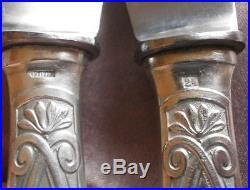 APOLLONOX 12 Couteaux de table métal argenté art déco années 30 quasi neufs +++
