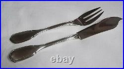 ARGENT MASSIF Minerve 950/1000 Service Poisson 6 fourchettes+6 Couteaux 2 DISPO