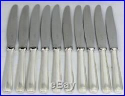 Alfénide modèle Véga 10 couteaux de table Art déco excellent état, métal argenté
