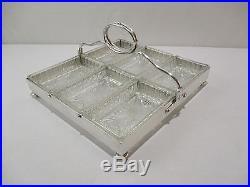 Ancien Plateau Ravier Serviteur De Table Ercuis Metal Argente Servant Of Table
