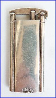 Ancien briquet à essence en argent massif 800 silver lighter Art Deco