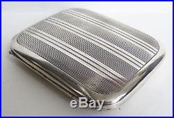 Ancien étui cigarettes ARGENT massif Minerve ART DECO ver 1925 99 gr silver box