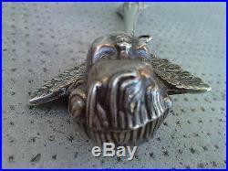 Ancien hochet argent 925 angelot cherubin antique angel rattle silver art deco
