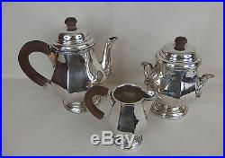 Ancien service à thé / café métal argenté / art déco 1930 / silverplate tea set