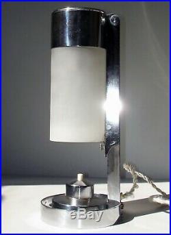 Ancienne Lampe BORIS LACROIX MITIS Art Deco Bauhaus Table Lamp era Buquet 1950