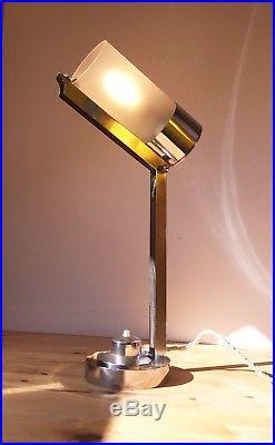 ancienne lampe mitis boris lacroix vintage art deco bauhaus table lamp 1930 30 argente art. Black Bedroom Furniture Sets. Home Design Ideas