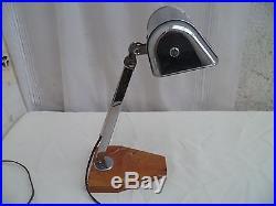 Ancienne lampe de bureau Architecte atelier art-déco articulé coulissante