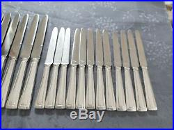 Art Deco 24 Couteaux Ravinet D Enfert En Metal Argente Lames En Inox
