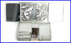 Art Déco Boucheron Paris Necessaire Trousse Du Soir Vanity Case 1940er Argent &