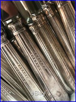 BELLE MENAGERE ART DECO Metal Argente 61 Pièces / ARGENTERIE ANCIENNE