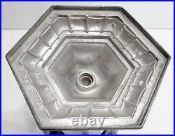 Belle COUPE sur pied cristal métal argenté art déco 1930 orfèvrerie DILECTA