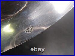 Belle Corbeille A Pain Ovale En Argent Massif Poincon Minerve Boirdure Perles