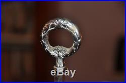 Belle Lampe Bouillotte En Metal Argente Decor Cors De Chasse