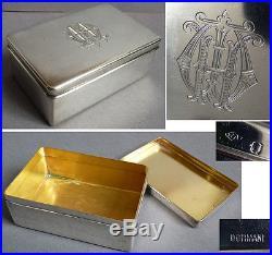 Belle boite en argent massif SORMANI pour savon vers 1925 silver box 190 gr