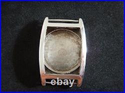 Boite Tonneau Omega Case Cassa Art Déco Années 30 Argent Swiss Made