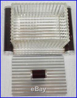 Boite a gâteau bonbonnière cristal plateau miroir art deco 1930 1950 vintage