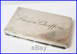 Boite à médicaments argent massif ancien pilules silver pill box CHAFFOIS