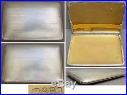 Boite étui à cigarettes argent massif ART DECO daté 1926 silver box 205 gr