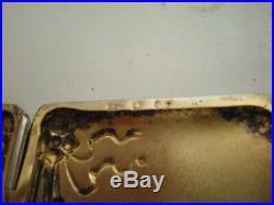 Boite étui à cigarettes en argent, décors en relief, art déco, poids 42,60 grs